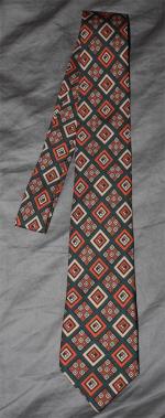 cravate à imprimé géométrique vintage