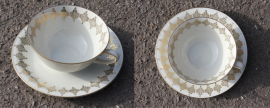 Tasse et soucoupe porcelaine art déco