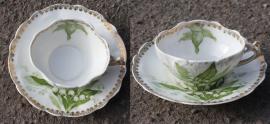 tasse et soucoupe vintage, muguet