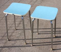 Tabouret formica bleu vintage MDJ