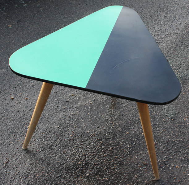 table basse tripode formica bicolor annes 50