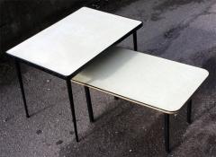 Tables basses formica jaune années 50