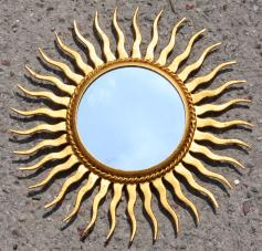 Miroir soleil vintage, esprit Chaty Vallauris