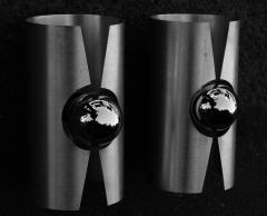 paire d'appliques alu space age, années 70