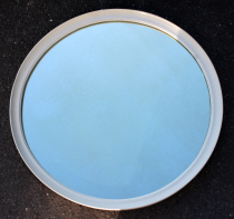 Grand miroir rond vintage, années 70
