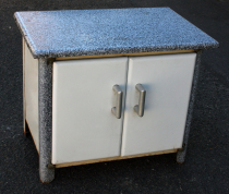 meuble metal emaille