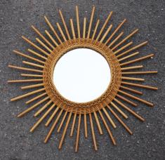 Miroirs soleil miroirs fleurs miroir rotin miroir for Miroir rotin noir