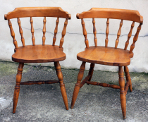 "Chaises bistrot ""Western"", saloon, vintage, années 50"