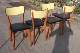 chaises vintage années 50 bois et skaï