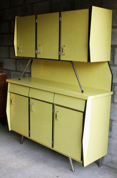 buffet haut formica jaune 1950