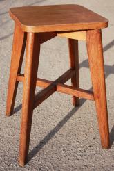 Tabouret guéridon en bois, années 50