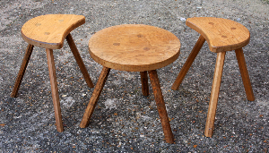 Tables - tabourets - porte pots, bois, vintage, années 60
