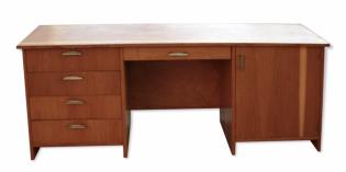 Bureau secrétaire années 50, bois