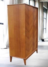 Armoire vintage, 1950, portes coulissantes
