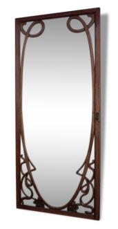 Porte avec miroir, 1900, art nouveau