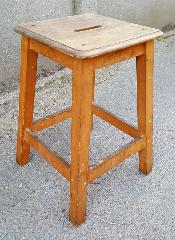 Tabouret d'atelier en bois, années 40