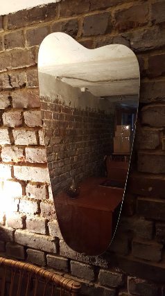 Miroir moderniste, long, années 50