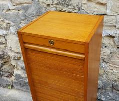 meuble classeur à rideau, bois, années 50