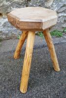 porte pot tripode bois brut