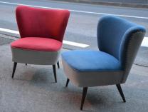 Paire de fauteuils cocktail, années 50