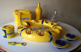 plateau bouée ricard + accessoires vintage