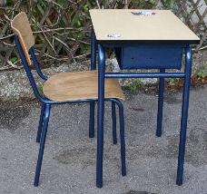 Bureau d'écolier vintage années 50