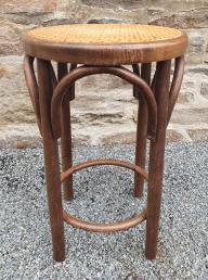Tabouret bois ancien, années 20