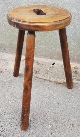 Porte pot vintage, en bois, tripode, années 50