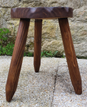 Chaise tronc d'arbre, bois brut, vintage, années 50