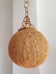 suspension scandinave fibre naturelle, vintage