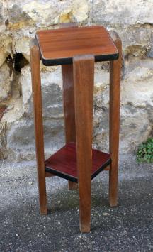 porte pot, sellettes, deux plateaux, bois et formica