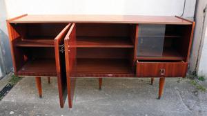 enfilade vintage années 50 en bois finition vernis