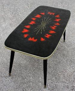 Table basse années 50, bois