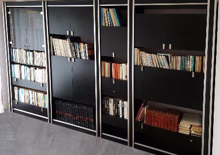 Bibliothèque, rangements, bureau, vintage, années 70