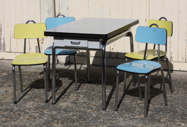 Table et chaises formica, vintage, années 60