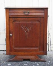 Petit meuble années 30 bois et laiton