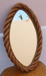 Miroir ovale, forme d'oeil, Audou Minet, 1950