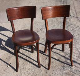 Paire de chaises bistrot Baumann, vintage
