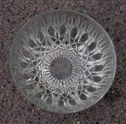 Saladier en verre, années 50