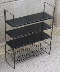"""Etagères style """"String"""", années 50, métal noir"""