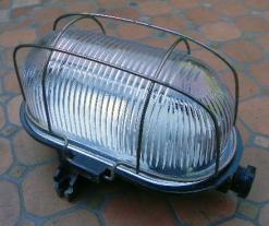Lampe hublot bakélite industrielle