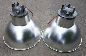 lampe industrielle, vintage, années 60