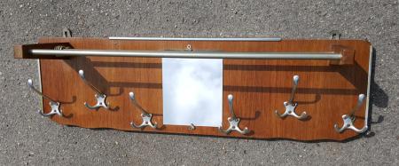Porte manteaux / patère, années 50, bois et métal