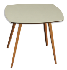 Table basse vintage, bois, années 50