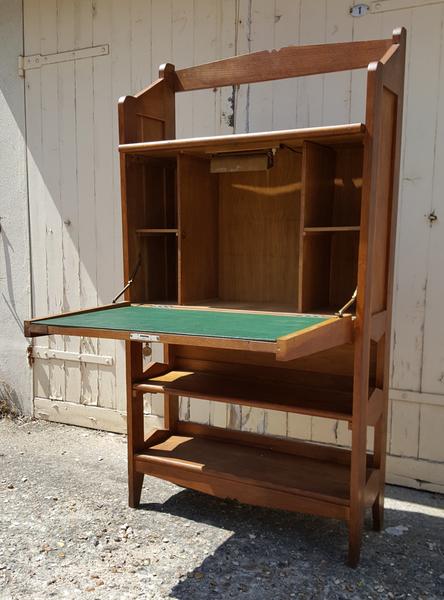 Broc co bureau d 39 coliers secr taire vintage chaise for Petit bureau secretaire moderne