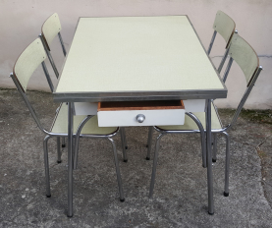 Table formica vintage années 50, plastilux