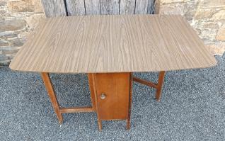 table Formica bleu 4 chaises vintage années 60
