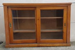Placard haut en bois, vitrine, vintage