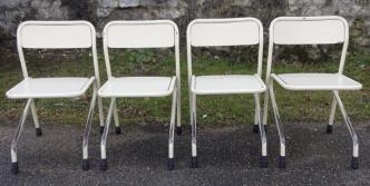 Chaises d'écolier, en métal, vintage, années 50 - 60