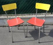 Paire de chaises Formica bicolor
